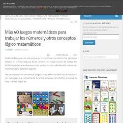 Más 40 Juegos matemáticos para trabajar los números y otros conceptos lógico matemático en preescolar - Imagenes Educativas
