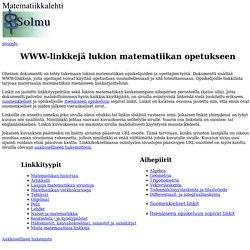 WWW-linkkejä lukion matematiikan opetukseen