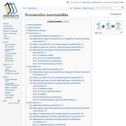 Peruskoulun matematiikka – Wikikirjasto