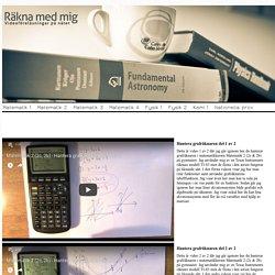 Matematik 2c föreläsningar - Räkna med mig