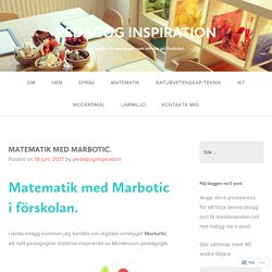 MATEMATIK MED MARBOTIC. – PEDAGOG INSPIRATION