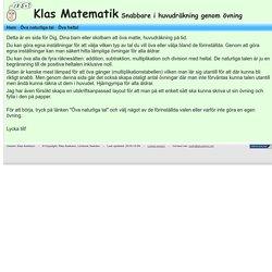 Klas Matematik - Matte - Öva huvudräkning