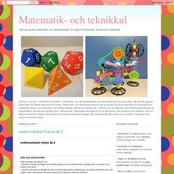 Matematik- och teknikkul: matteverkstad Volym åk 2