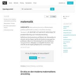 matematik - Uppslagsverk - NE.se