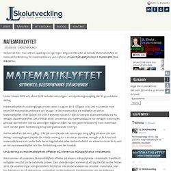 Matematiklyftet – JL Skolutveckling