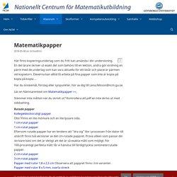 Matematikpapper – NCM:s och Nämnarens nya webbplats