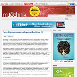 Narzędzia matematyczne dla ucznia: GeoGebra (1) « Młody Technik