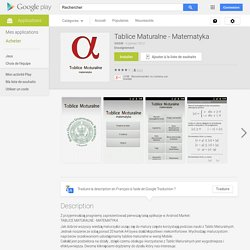 Tablice Maturalne - Matematyka – Applications Android sur Google Play