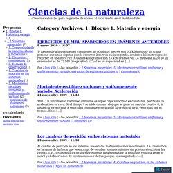 1. Bloque 1. Materia y energía « Ciencias de la naturaleza