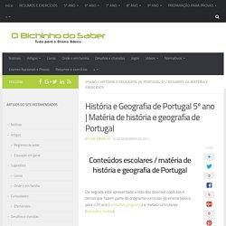 Matéria de História (HGP) do 5º ano - Resumos e exercícios
