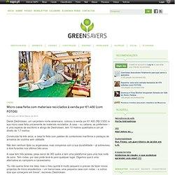 Micro casa feita com materiais reciclados à venda por €1.400 (com FOTOS)