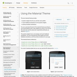 Using the Material Theme