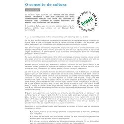 Cultura- Definição segundo Edward Tylor