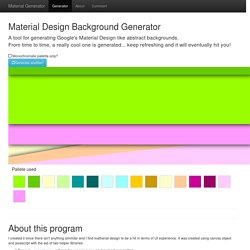 Material Design Background Generator