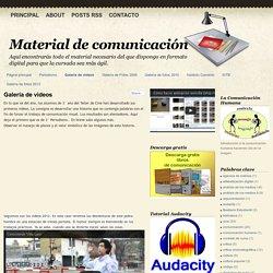 Material de comunicación: Galería de videos