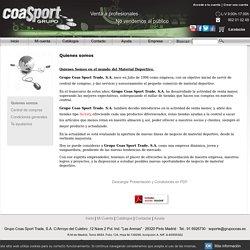Material deportivo, Grupo Coas Sport