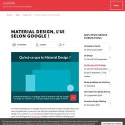 Qu'est-ce que le material design ? Définition Material Design Google
