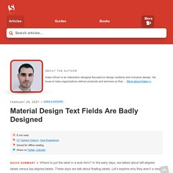 Material Design Text Fields Are Badly Designed
