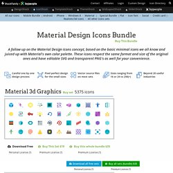 Material Design Icons (expanded and color version)