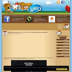 Material Design Lite - Le kit CSS / HTML Material par Google