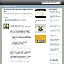 Material didáctico en línea de Aprender en red
