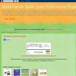 Material de Isaac para Educacion Especial: power point