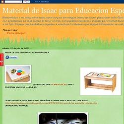 Material de Isaac para Educacion Especial: MESA DE LUZ SENSORIAL: COMO HACERLA