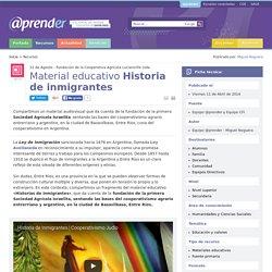 Material educativo Historia de inmigrantes