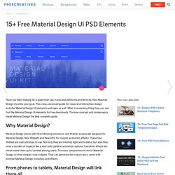 15+ Free Material Design UI PSD Elements