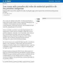 Los casos más sonados del robo de material genético de los pueblos indígenas - Archivo Digital de Noticias de Colombia y el Mundo desde 1.990 - eltiempo.com