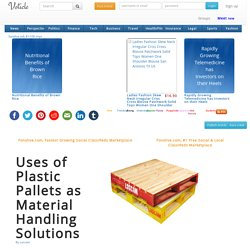 Uses of Plastic Pallets as Material Handling Solutions