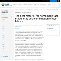 The best material for homemade face masks may be a combination of two fabrics