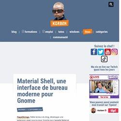 Material Shell, une interface de bureau moderne pour Gnome