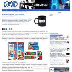 El Material P.O.P. y su utilidad - Red Gráfica Latinoamérica