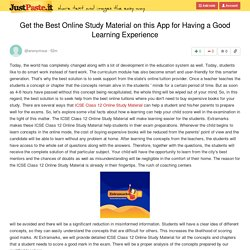 Get the Best Online Study Material on this App for Having a Good Learning Experience