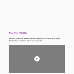Material motion - Motion - Material design guidelines