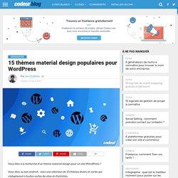 15 thèmes material design populaires pour WordPress