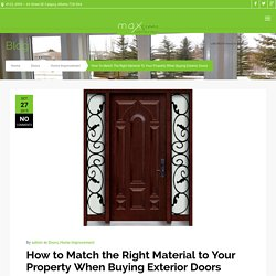 Choose Right Material For Your Exterior Doors
