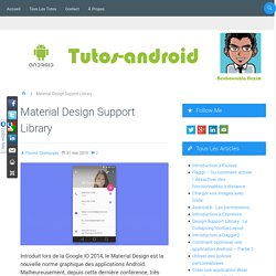 Material Design Support Library