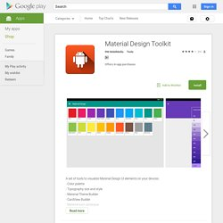 Material Design Toolkit - Android Apps on Google Play