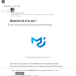 Material-UI v1 is out □ – Material-UI