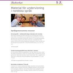 Material för undervisning i nordiska språk