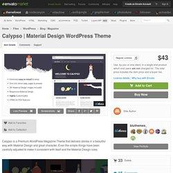 Material Design WordPress Theme