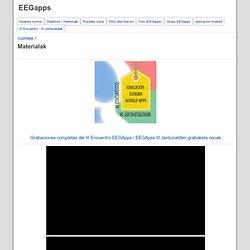 Materialak - EEGapps