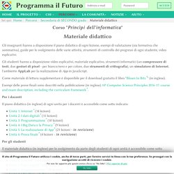 Materiale didattico - ProgrammaIlFuturo.it