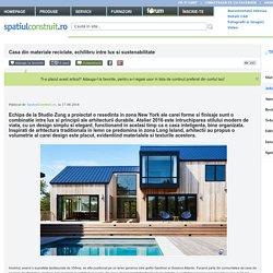 Casa din materiale reciclate, echilibru intre lux si sustenabilitate