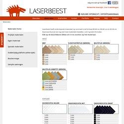 Materialen - Laserbeest Delft - eenvoudig & snel geleverd