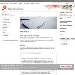 Materialer – Københavns Universitet