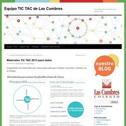 Materiales TIC TAC 2013 para todos