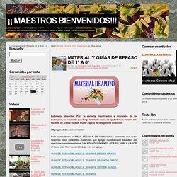 materiales - BIENVENIDOS MAESTROS, DIRECTIVOS Y PERSONAL DE APOYO